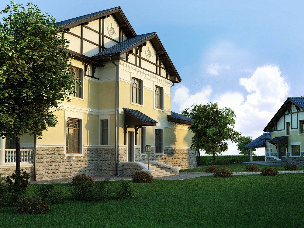 классический дом фото планировка